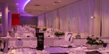 Indoor wedding seating